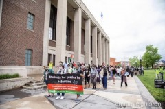 U of MN students march for divestment from companies funding Israel.