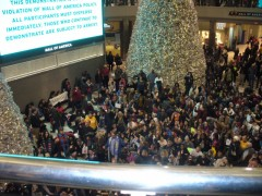 Protesters against police brutality fill Mall of America.