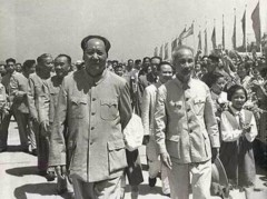 Ho Chi Minh with Chinese communist leader Mao Zedong.