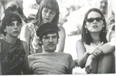 Marilyn Buck (right) at 1966 anti-war rally in Austin, TX