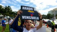Miami protest demands U.S. hands off Venezuela.
