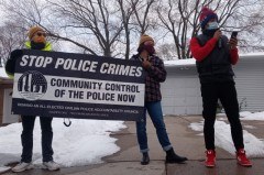 Milwaukee protest demands community control of police.