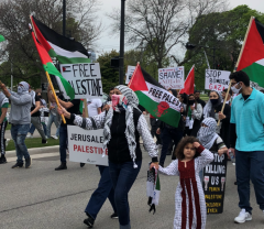 Milwaukee march in solidarity with Palestine.