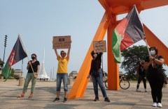 Milwaukee rally against U.S. interference in Afghanistan.
