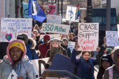 Milwaukee protest demands action on climate change.