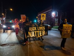 Milwaukee post election protest.