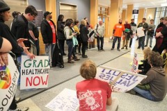 Sit-in for recognition at Zilber Hall