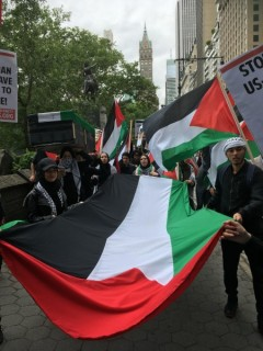 Standing up for Palestine in NYC.