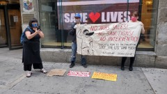 NYC protest against U.S. Philippines arms deal.