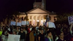 Tallahassee protest against President elect Trump.