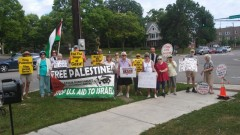 St. Paul protest urges no more U.S. aid to Israel.