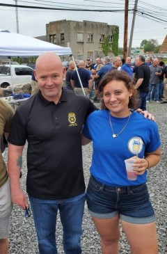 Teamster member Emily Butt with General President candidate Sean O'Brien