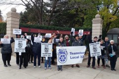 Teamsters, AFSCME members at Oct. 31protest demand raises and respect.