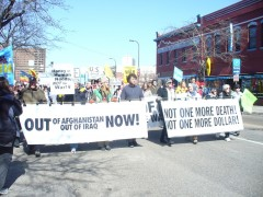 Marching against wars and occupations March 20