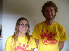 Shannon McEnteer and Tyler Wright of the Student Labor Action Project