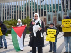 Protesters gathered in Minneapolis to demand freedom for the Holy Land 5.