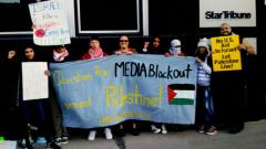 Minneapolis protest outside Star Tribune slams lack of coverage of Israeli settl