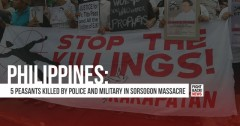 Philippines: 5 peasants killed by police and military in Sorsogon Massacre