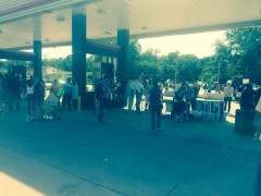 Protestors are gathering this evening at QuikTrip gas station on West Florissan