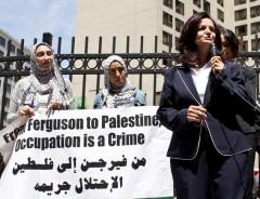 Rasmea Odeh speaking.