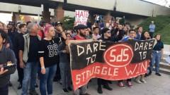 Protest confronts Ben Shapiro on Utah campus.