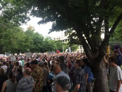 Thousands of protesters took over Washington Square in downtown Salt Lake City.
