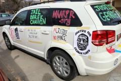 Car Caravan in Salt Lake City demands justice for George Floyd.