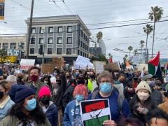Palestine solidarity march in San Francisco,