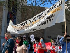 International Workers day march in San Jose, CA.