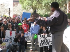 Community members speak out on the University of Florida campus