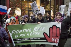Participants in NYC anti-war protest.