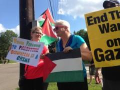 Minnesota protest marks last summer's war on Gaza.