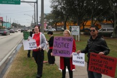 Protest demands U.S. Postal Service (USPS) stop using non-union labor at Staples