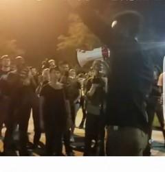 Black Lives Matter protest against police crimes n Houston's Third Ward