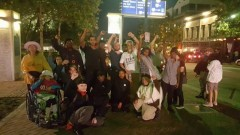 Texas protesters oppose killings by police.