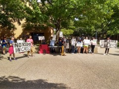 Texas protest condemns Trump's concentration camps