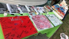 Activists signed some of the gifts given to the mothers of the slain men.