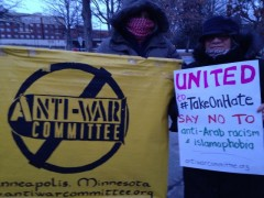 Minneapolis protest against islamomophobia in response to  the killing of three
