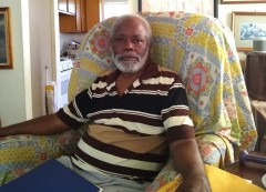 Tenant association president and founder Oliver Hill, Sr. at his house in Orange