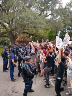 Protest against police crimes in Tallahassee, FL.