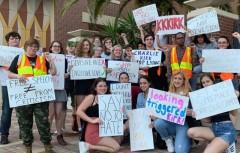 FSU students unite against Charlie Kirk event.