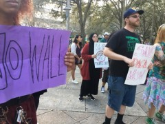 Tampa SDS protests Trump's wall