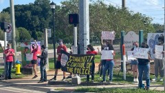 Tampa rally against evictions.