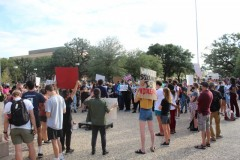 SDS rally at Texas A&M.