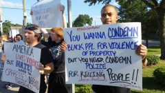 Houston protest stands with Baltimore, against police terror.
