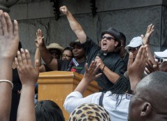 Milwaukee protest demands federal charges against Zimmerman.