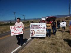 Marching to Colorado supermax prison to 'Free Simon Trinidad'