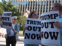 Protest against Trump in Minneapolis