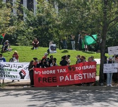 Dallas rally in solidarity with Palestine.
