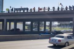 Dallas protest against U.S. attacks on Syria.